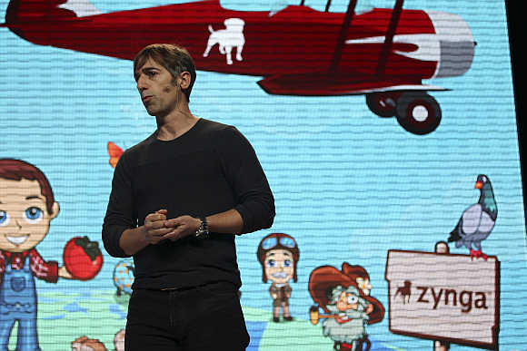 Zynga CEO Mark Pincus during the Zynga Unleashed event at the company's headquarters in San Francisco, California.