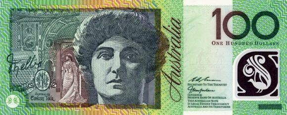 100 Australian dollars that features International opera soprano Nellie Melba.