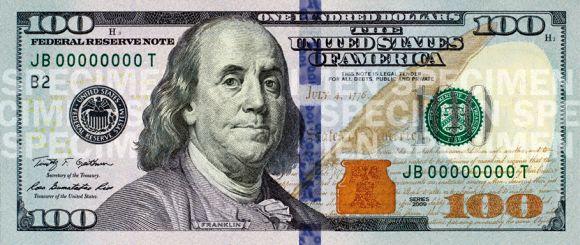 US $100 bill.