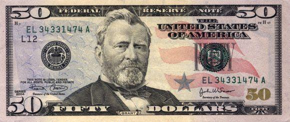 US $50 bill.
