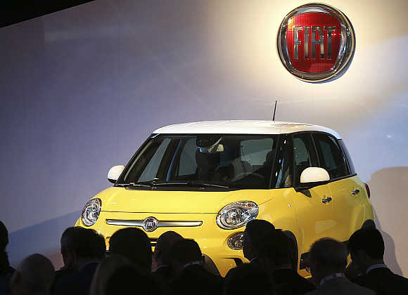 New Fiat 500L Living and Trekking model in Arcore, Italy.