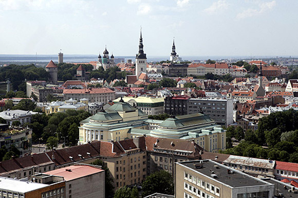 View of Estonia's capital Tallinn.