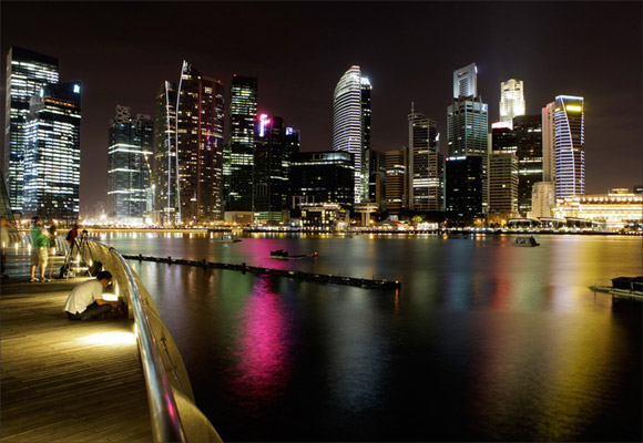 Singapore during the Earth Hour.