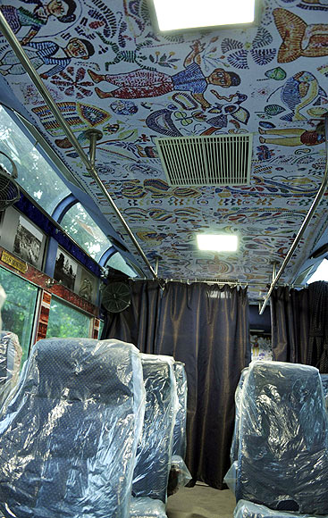 West Bengal tourism department has been involved in designing the tram car.