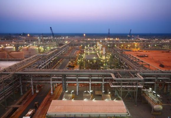 India's Reliance Industries KG-D6's facility located in the Indian state of Andhra Pradesh.