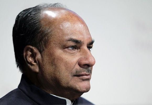 Defence Minister AK Antony.