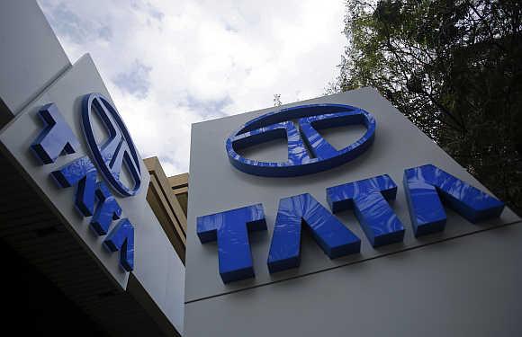 Tata Motors' logo.