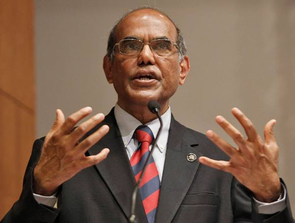 Reserve Bank of India Governor Duvvuri Subbarao speaks during a business conference in Ahmedabad.