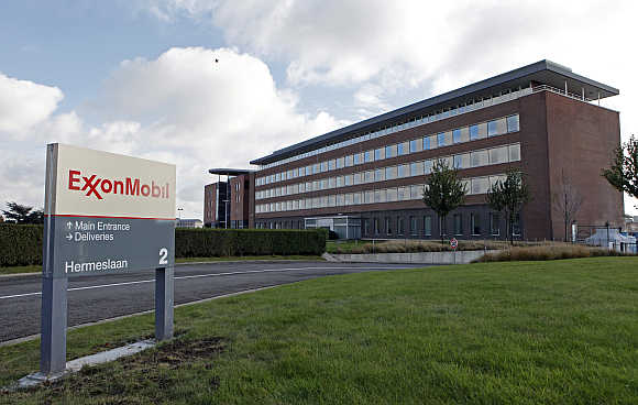 Belgian headquarters of oil giant ExxonMobil in Machelen, northern Brussels.