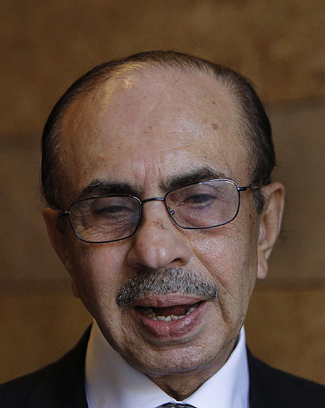 Chairman of The Godrej Group Adi Godrej speaks on the sidelines of the World Economic Forum (WEF) India Economic Summit in Mumbai.