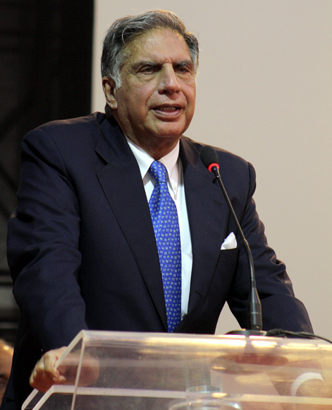 Ratan Tata, Chairman Emeritus of Tata group at the Vibrant Gujarat Summit.
