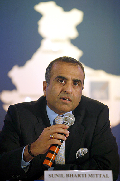 Bharti Enterprises chairman Sunil Mittal speaks during a news conference in Mumbai.