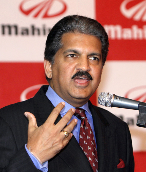 Anand G. Mahindra, vice chairman and managing director of Mahindra & Mahindra, speaks during a news conference in Seoul.