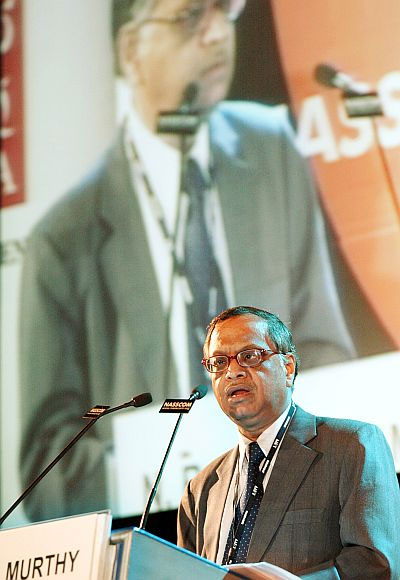 A file photo of N R Narayana Murthy.