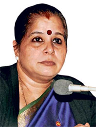 Usha Ananthasubramanian, executive director of Punjab National Bank will be the CEO of the all-women bank. Photograph, Courtesy dailypostindia.com