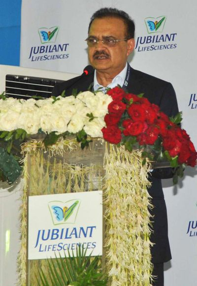 Jubilant Life Sciences Chairman and Managing Director Shyam S Bhartia.