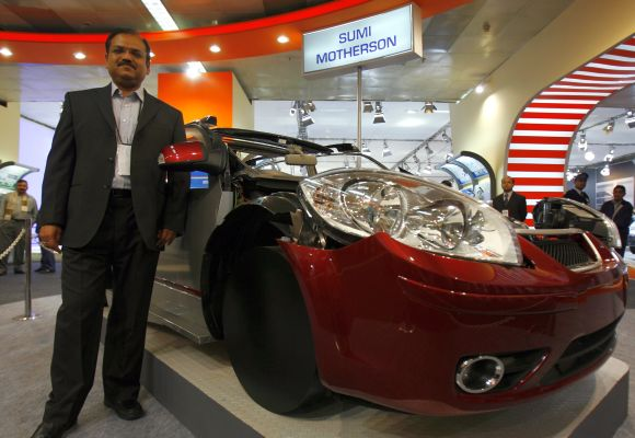 Chief Operating Officer Pankaj K. Mital of the Wiring Harness Division of Motherson Sumi Systems at Auto Expo in New Delhi.