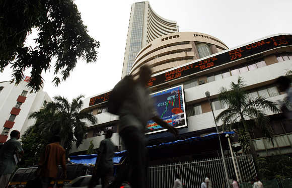 A view of Bombay Stock Exchange.