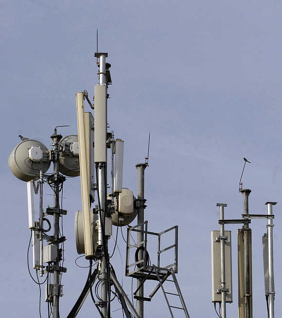 Telecom towers in Hyderabad.