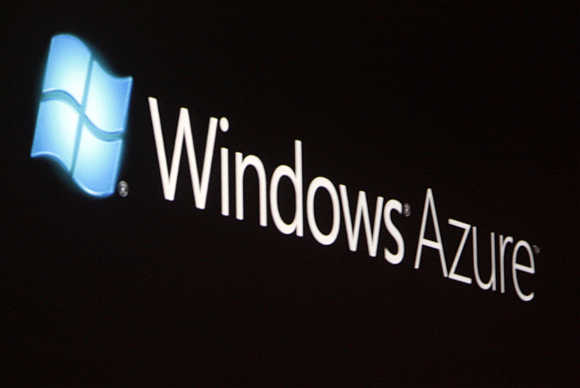 Logo of Windows Azure in Los Angeles.
