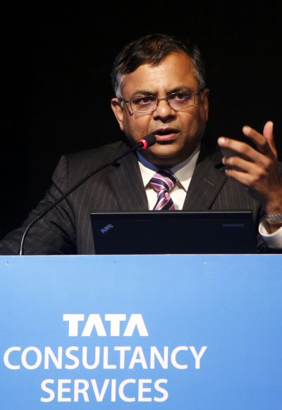 N. Chandrasekaran, chief executive officer of Tata Consultancy Services.