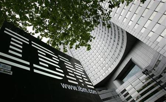 A view of IBM headquarters at la Defense in Paris.