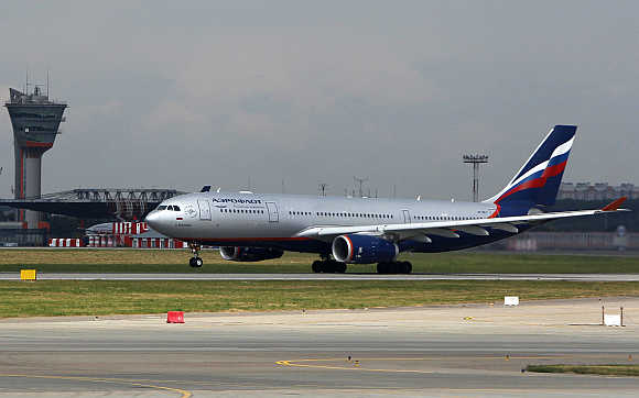An Aeroflot Airbus A330 takes off from Moscow's Sheremetyevo airport.