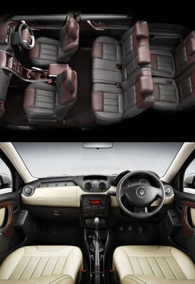 Interior of XUV500 (above) and Renault Duster.