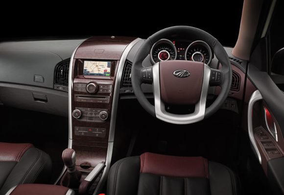 Interior of Mahindra XUV500.