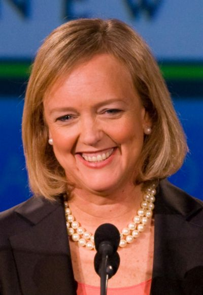 Meg Whitman speaks at the Tech Museum in San Jose