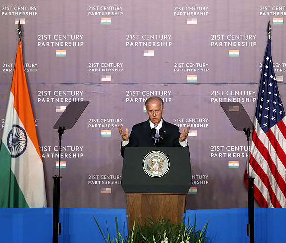 India's top priority is to lift hundreds of millions of people out of poverty to join the middle-class, said Biden.