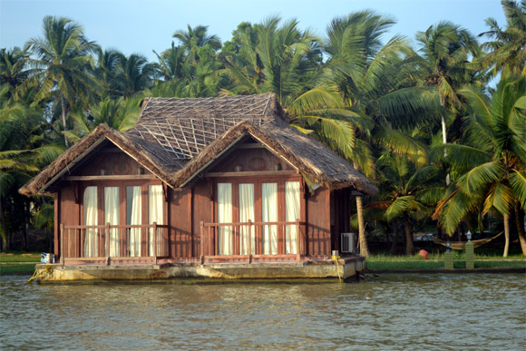 A floating cottage at Poovar near Thiruvananthapuram.