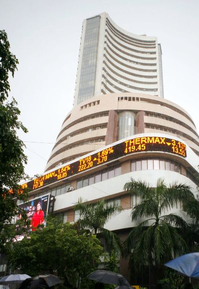 Markets end flat, L&T soars 6%