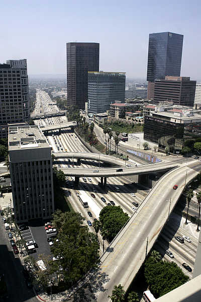 Harbor Freeway in Los Angeles, one of the biggest megacities in the world.