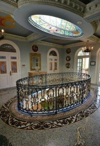 One of the many foyers in the South Beach mansion.
