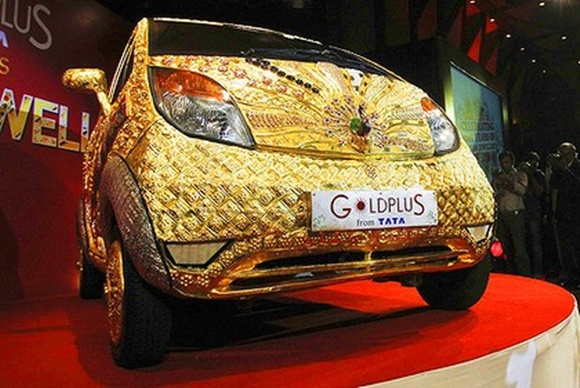 Gold encrusted Tata Nano.