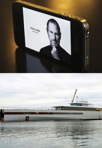 Apple co-founder Steve Jobs (above) and the super yacht he designed during the last days of his life.