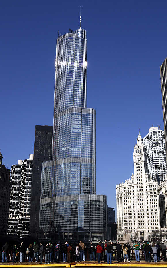 Trump International Hotel & Tower in Chicago, Illinois.