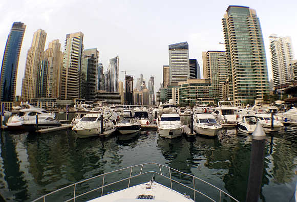 Yachts at a dock at the Dubai Marina. Photo is for representation purpose only.