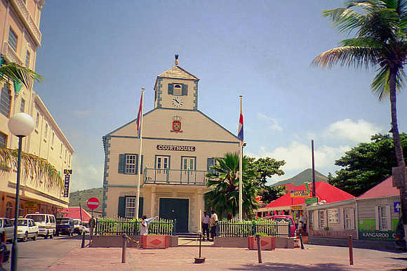 A court in Philipsburg, St Maarten.