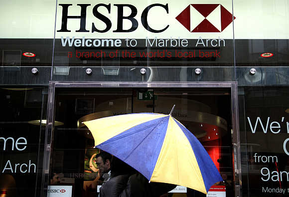 A branch of HSBC in central London. HSBC is one of WPP's clients.
