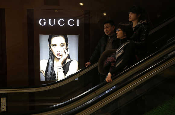 A Gucci advertisement in a shopping mall in Wuhan, Hubei province, China. Gucci is one of Publicis Groupe's clients.