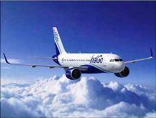 An Indigo aircraft
