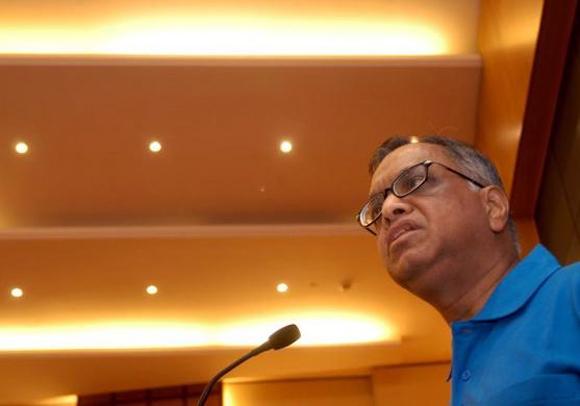 Chairman of Infosys Technologies N. R. Narayana Murthy.