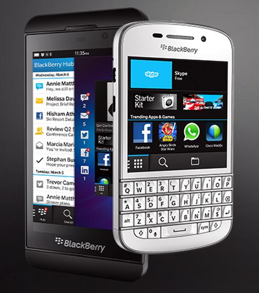 BlackBerry 10 and BlackBerry Q5.