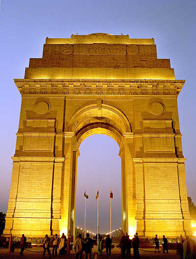 A view of the India Gate in New Delhi.