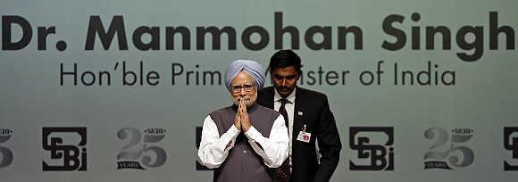 Prime Minister Manmohan Singh in Mumbai.
