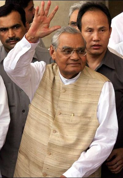 Former Indian Prime Minister Atal Behari Vajpayee.