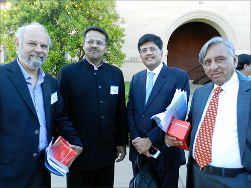Mani Shankar Aiyar with other speakers at the SCID conference.