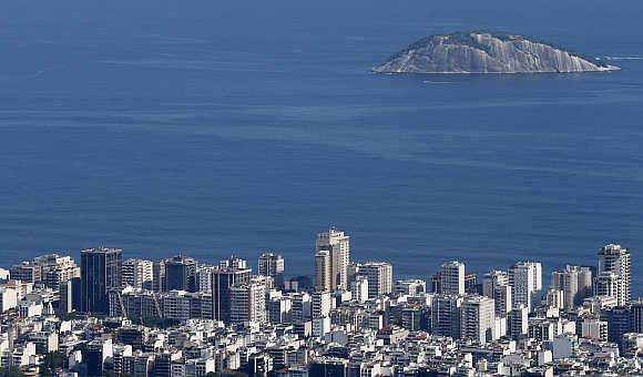 A view of Ipanema neighbourhood in Rio de Janeiro, Brazil.
